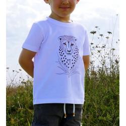 T-Shirt Guépard en coton bio