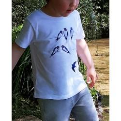 T-Shirt Hirondelle en coton...