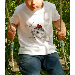 T-shirt Paquebot en coton bio