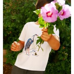 T-Shirt Héron en coton bio